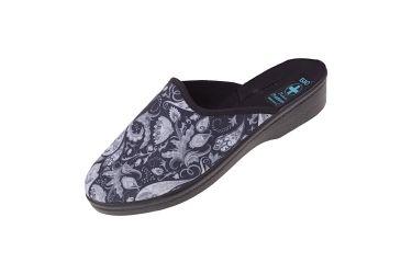Pantofle na koturnie klapki kryte 24656 BIO Adanex
