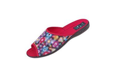 Pantofle kapcie odkryte BIO Adanex 24755 kolorowe czerwone
