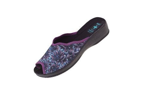 Pantofle kapcie na koturnie BIO Adanex 24667 morskie