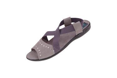 Sandały profilowane z gumką komfort BIO Adanex 24787 szare