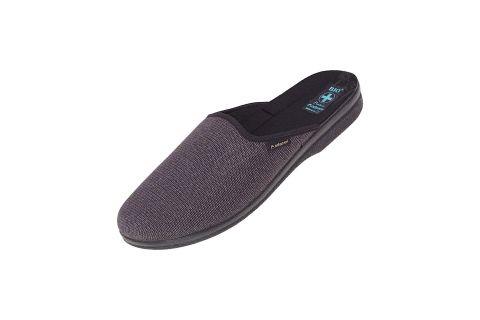 Pantofle BIO Adanex 24142 ciepłe kapcie filc szare