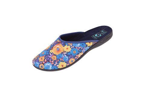 Pantofle Adanex BIO klapki z krytymi palcami 24296 niebieskie