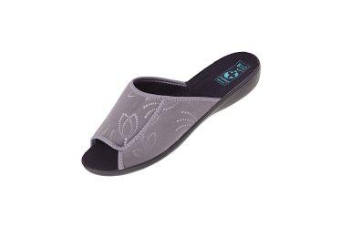 Pantofle klapki odkryte BIO Adanex 25415 szersze szare