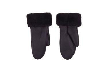 Rękawiczki skórzane damskie ocieplane z jednym palcem czarne