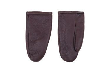 Rękawiczki skórzane męskie ocieplane z jednym palcem brązowe