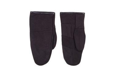Rękawiczki skórzane męskie ocieplane z jednym palcem czarne nr 1