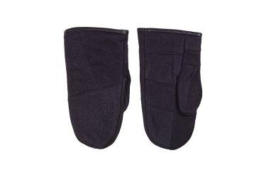 Rękawiczki skórzane męskie ocieplane z jednym palcem czarne nr 2