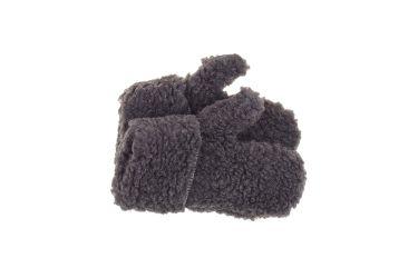 Rękawiczki wełniane z jednym palcem merynos szare ciemne