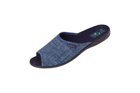 Pantofle klapki z odkrytymi palcami BIO Adanex 25969 jeans