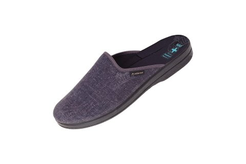 Pantofle kapcie BIO Adanex 24617 bawełniane szare