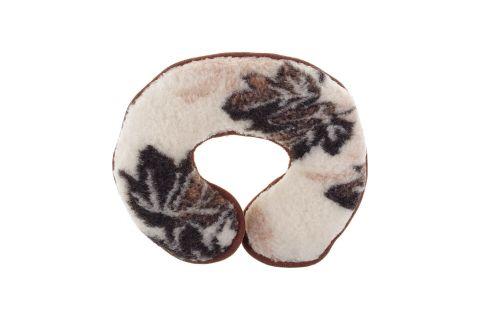 Rogal wełniany poduszka podpora karku listki klonu