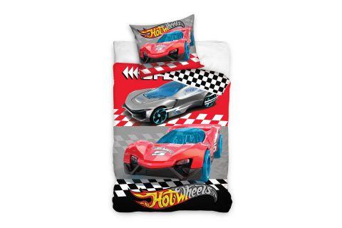 Pościel bawełniana komplet 140x200 +70x90 samochody Hot Wheels