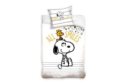 Pościel bawełniana komplet 160x200 + 70x80 Snoopy