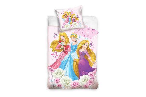 Pościel bawełniana komplet 140x200 + 70x90 Księżniczki Disney