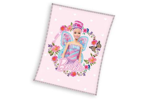 Koc polar Carbotex 110x140 lalka Barbie