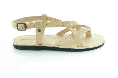 Sandały skórzane płaskie