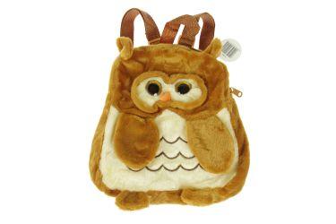 Plecak pluszowy maskotka plecaczek sowa brąz