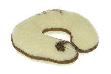 Rogal wełniany merynos poduszka podpora karku i szyi kremowy