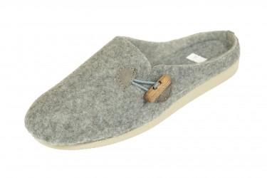 Pantofle filcowe na klinie z kołkiem