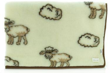 Koc wełniany wełna merynos 100x140 owieczki