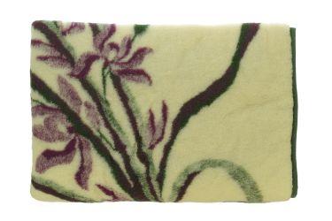 Koc wełniany 100% naturalna wełna 155x200 fioletowa lilia