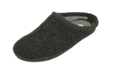 Pantofle filcowe kapcie z podeszwą filcową antypoślizgowe czarne