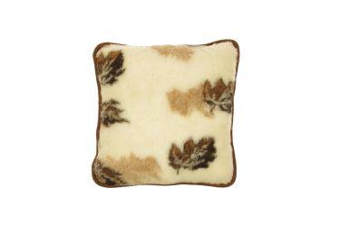 Poduszka wełniana jaś naturalna wełna merynos 45x45 listki