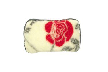 Poduszka wełniana cukierek 25x40 z runa owczego merynos czerwona róża