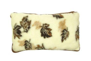 Poduszka wełniana merynos duża 45x75 listki