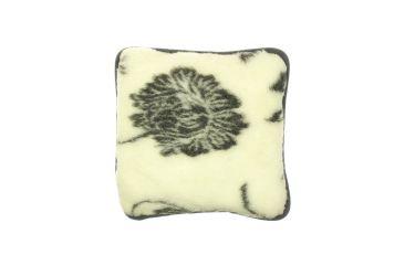 Poduszka wełniana jaś naturalna wełna merynos 40x40 szara róża
