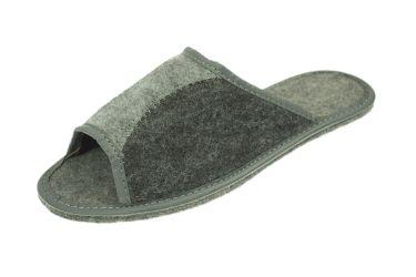 Kapcie filcowe z odkrytymi palcami podeszwa filcowa czarne