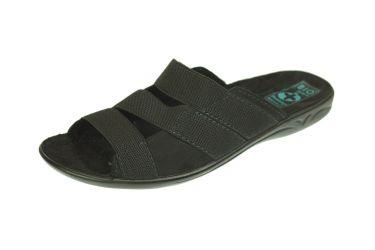 Klapki pantofle z gumką BIO Adanex czarne