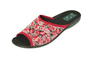 Pantofle klapki z odkrytymi palcami BIO Adanex czerwone