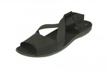 Sandały profilowane z gumką komfort BIO Adanex czarne