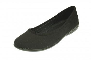 Baleriny pantofle BIO Adanex produkt Polski czarne