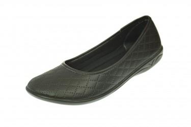 Baleriny pantofle BIO Adanex produkt Polski ekoskóra czarne