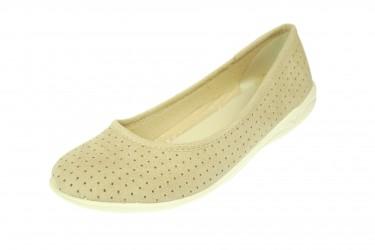 Baleriny pantofle BIO Adanex produkt Polski beż