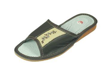 Pantofle domowe damskie brąz beż r. 35